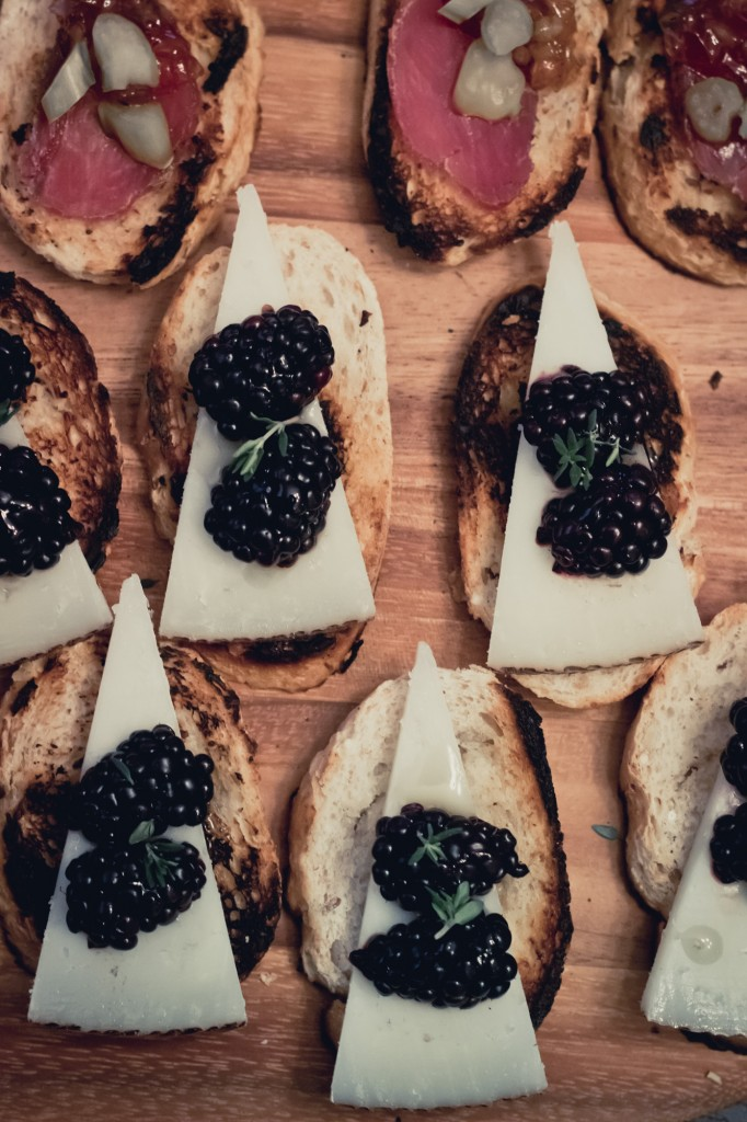 Manchego and Blackberry with Thyme and honey