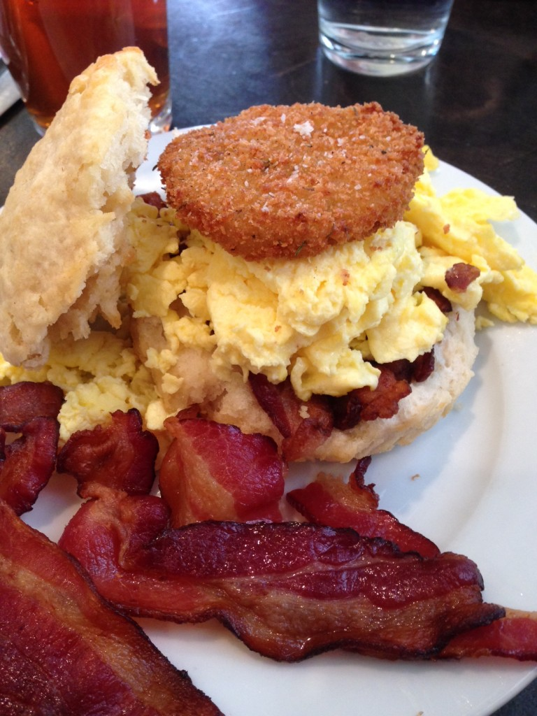 Ruby Slipper was a stand-out breakfast... yep, that's a fried green tomato!