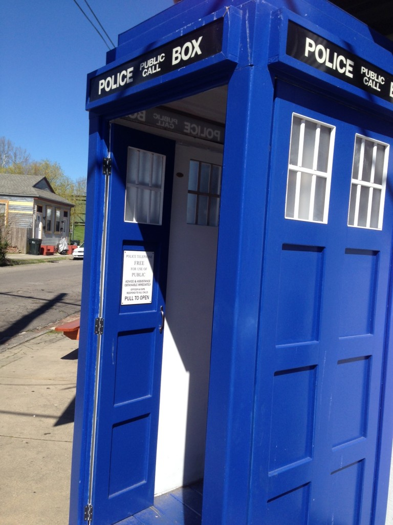 Doctor Who's TARDIS was even spotted!