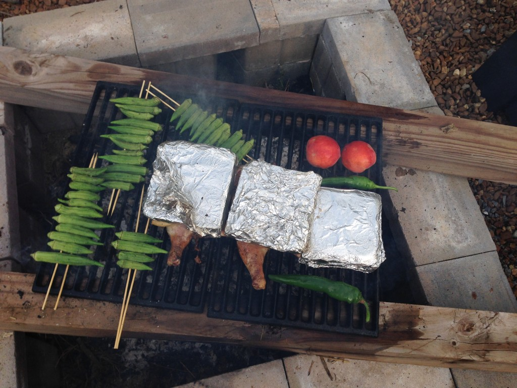 Grilling the sides