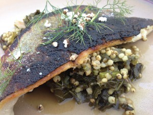 Trout with Sorghum and Te You.