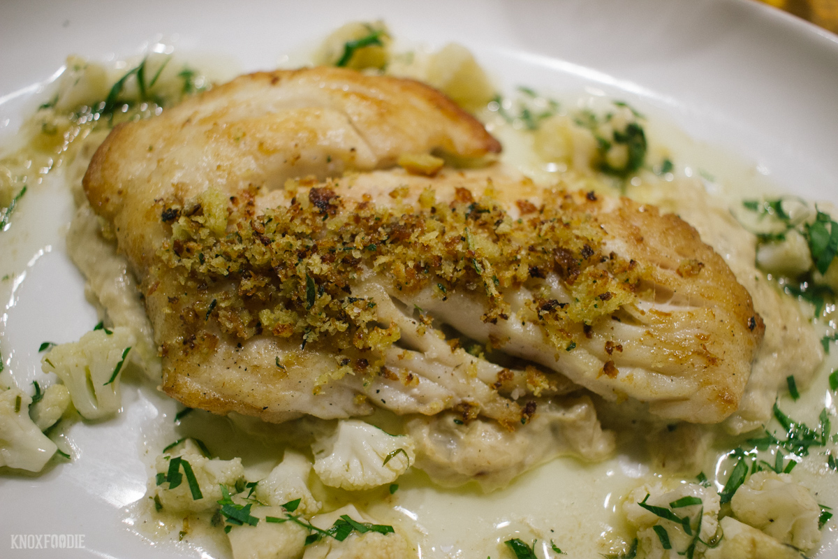 Edmunds Oast - Trigger Fish with Creamed Cabbage