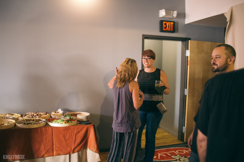 Mrs Knoxfoodie getting the scoop on up and coming events from Holly's Eventful Dining's Lisa McCoig