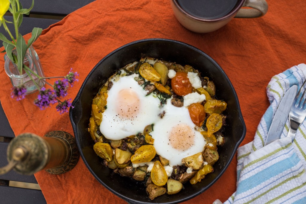 Breakfast Hash with Baked Eggs