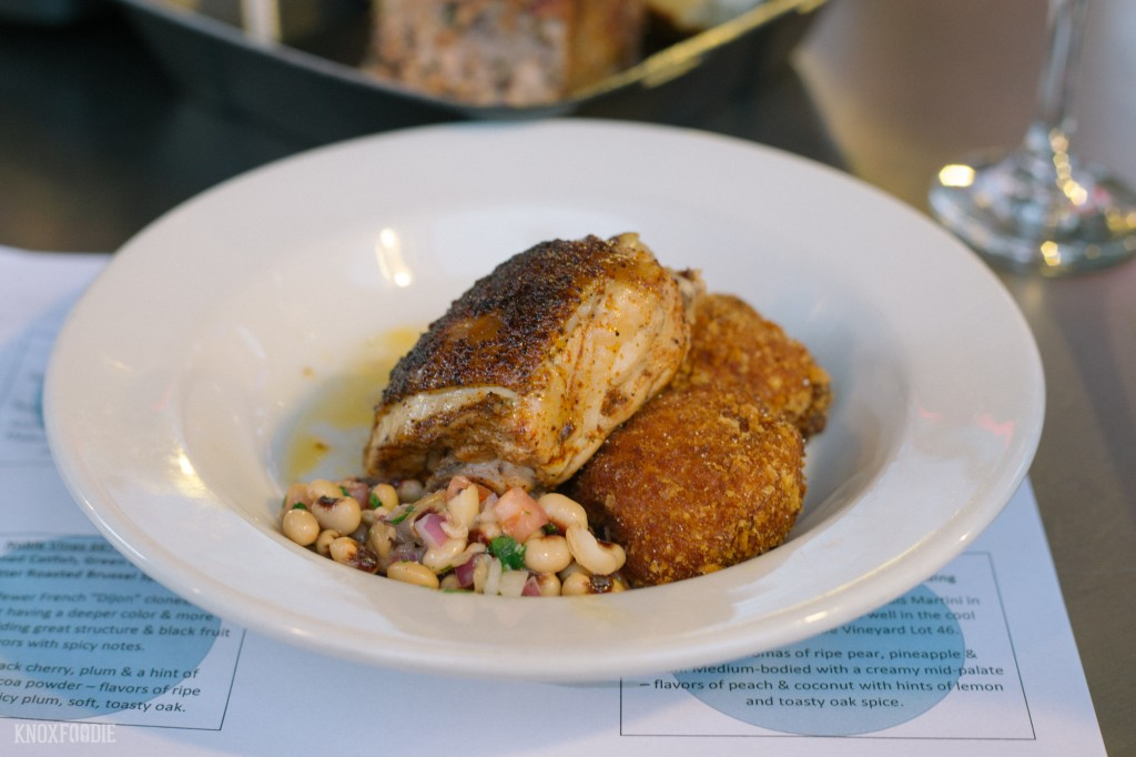 Poached Chicken Thighs with and Black-Eyed Peas