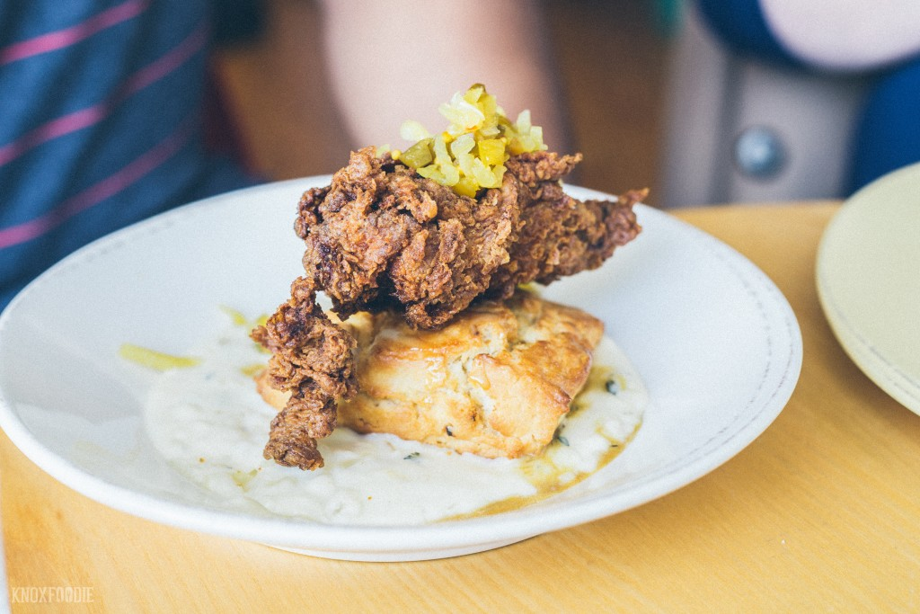 First timers should always go for the Chicken and Biscuit with Chow Chow and Sorghum Butter!