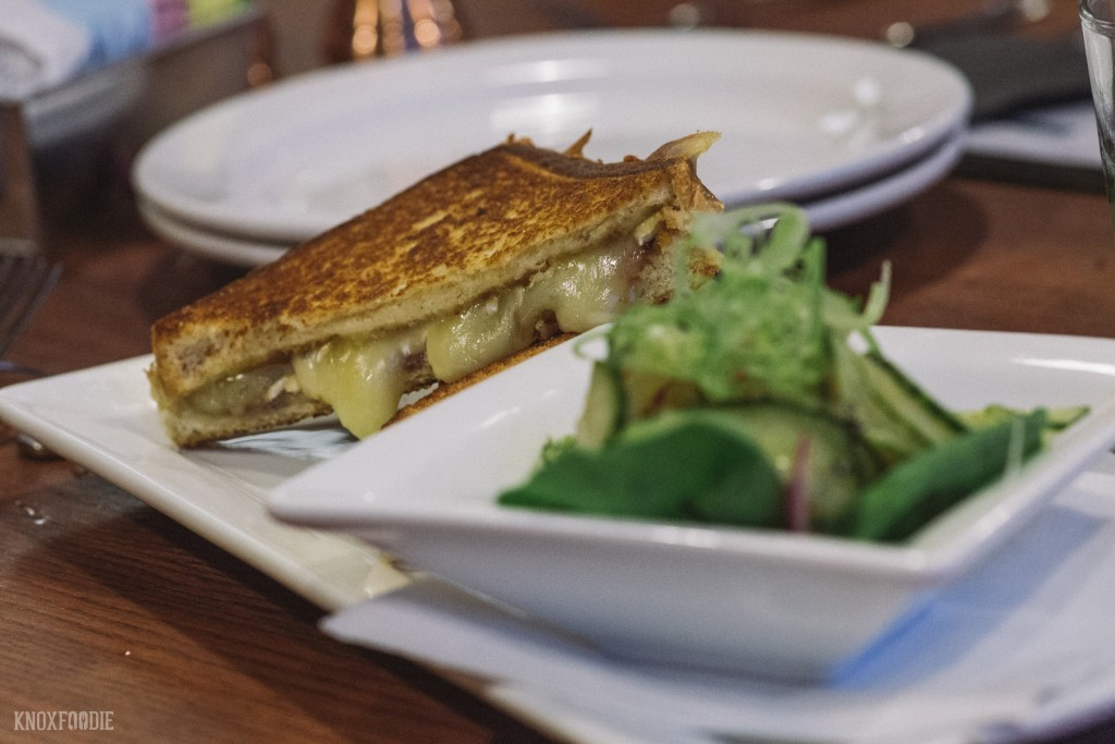 Gooey Brie and Fig Grilled Cheese