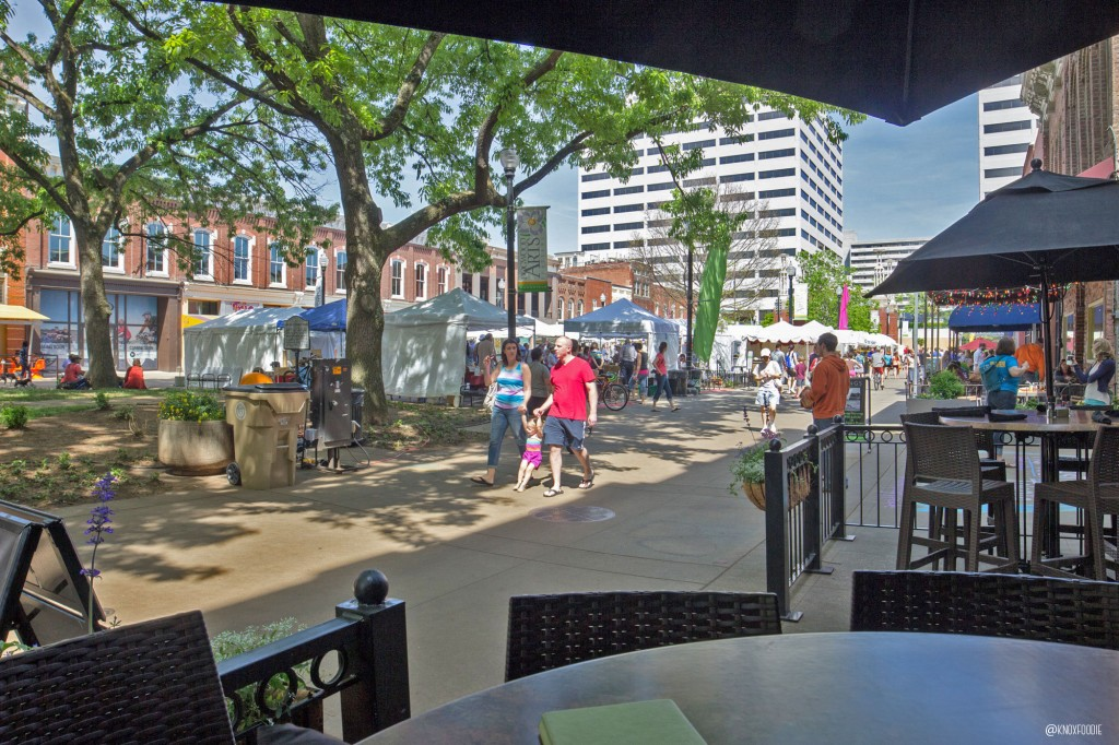 Great day for patio people-watching at Cafe 4