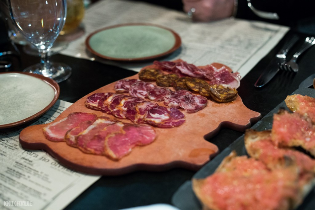 Charcuterie selection from Curate Tapas Bar