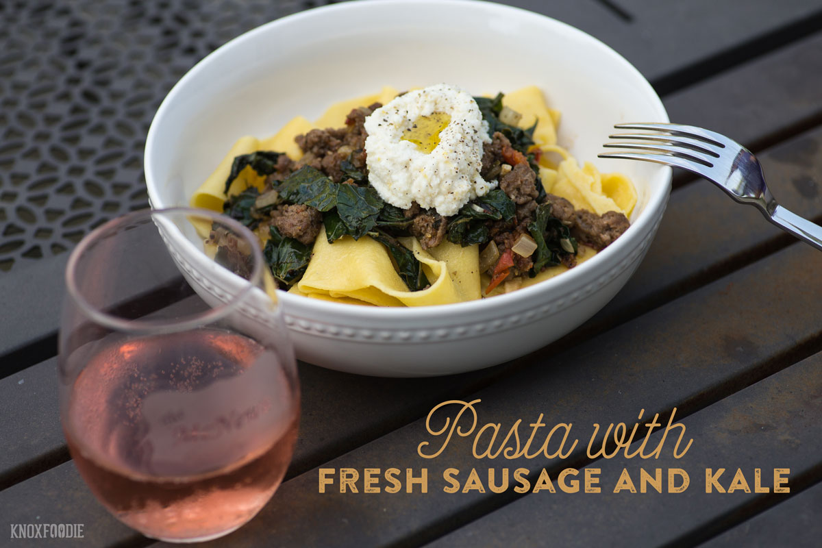 Pasta with sausage and kale recipe