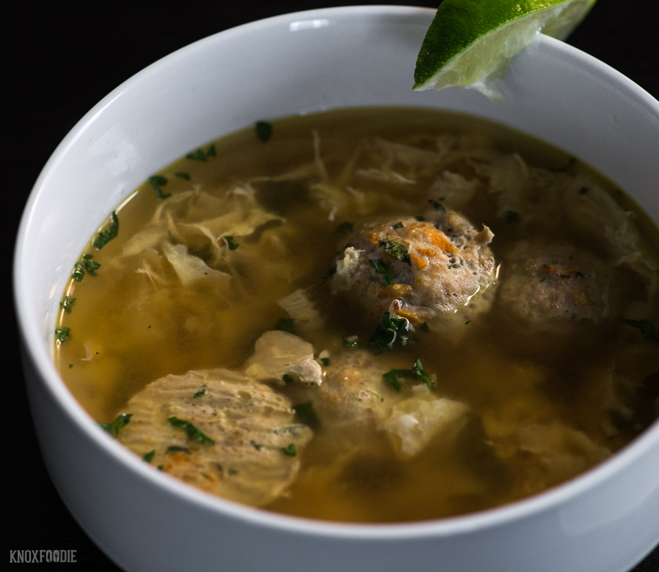 Egg Drop Soup with Meatballs, Whole30 and Paleo