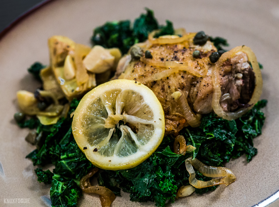 Whole30 Lemon Chicken with Artichokes and Kale Recipe
