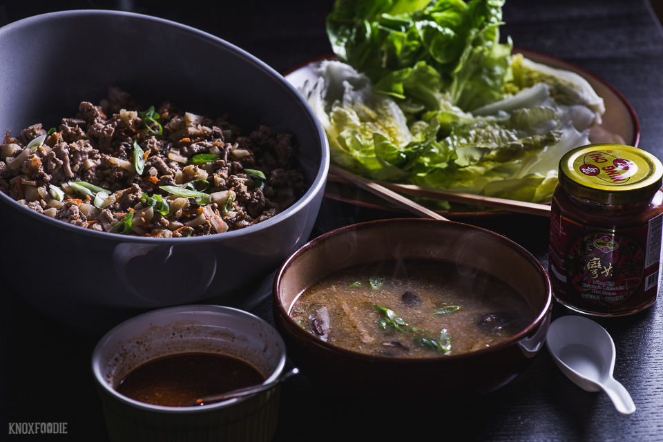 Lettuce Wraps and Hot and Sour Soup - Whole30 Paleo